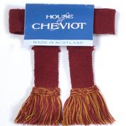 House of Cheviot Easy Velcro Garters Brick Red