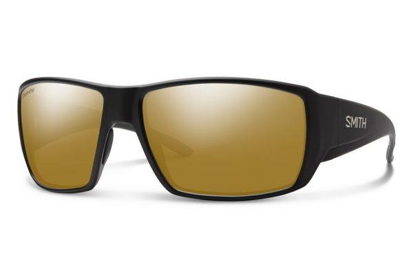 Smith Optics Guide Choice Matte Black Polar Bronze Mirror Sunglasses