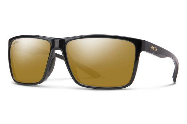 Smith Optics Riptide Black Polar Bronze Mirror Sunglasses