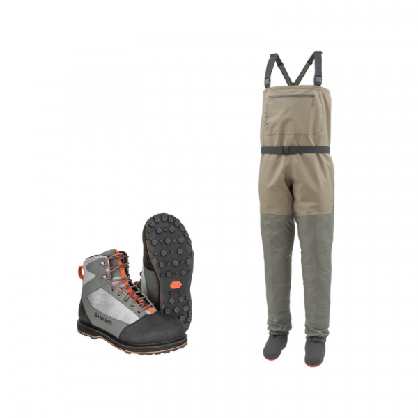 Simms Tributary Waders and Boots Combo (Striker Grey)