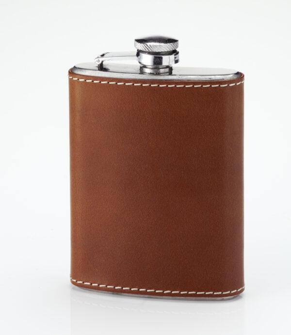 Laksen Pocket Flask - Natural Mahogany