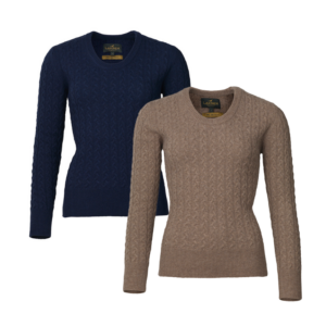 Laksen Burleigh Lambswool Cable Knit