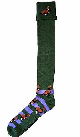 Shuttlesocks Purple Grouse Shooting Walking Socks