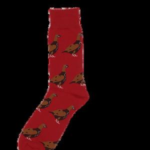 Shuttlesocks Red Standing Grouse Socks
