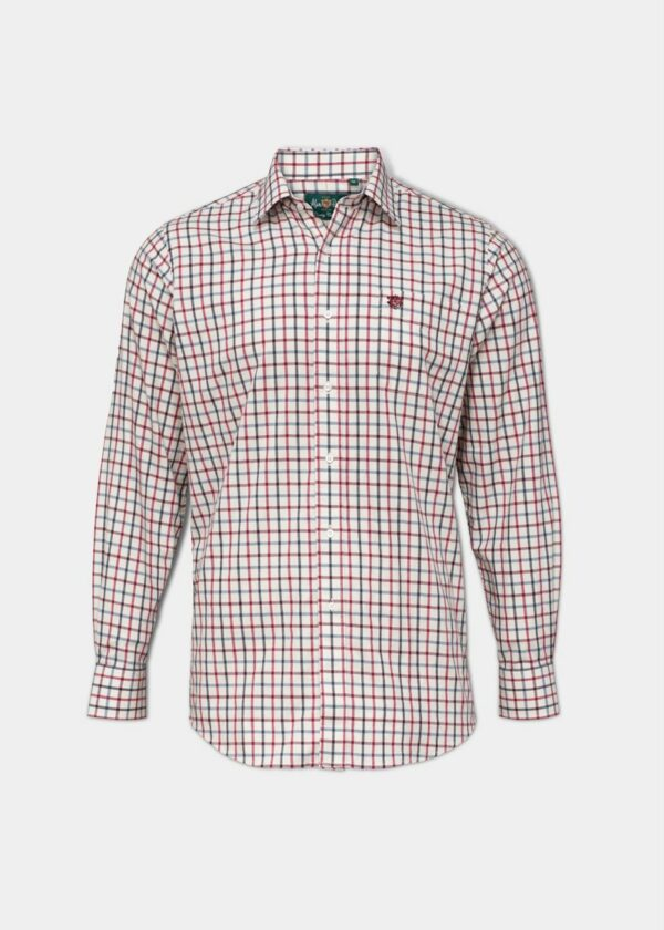 Alan Paine Ilkley Mens Shirt Red and Black