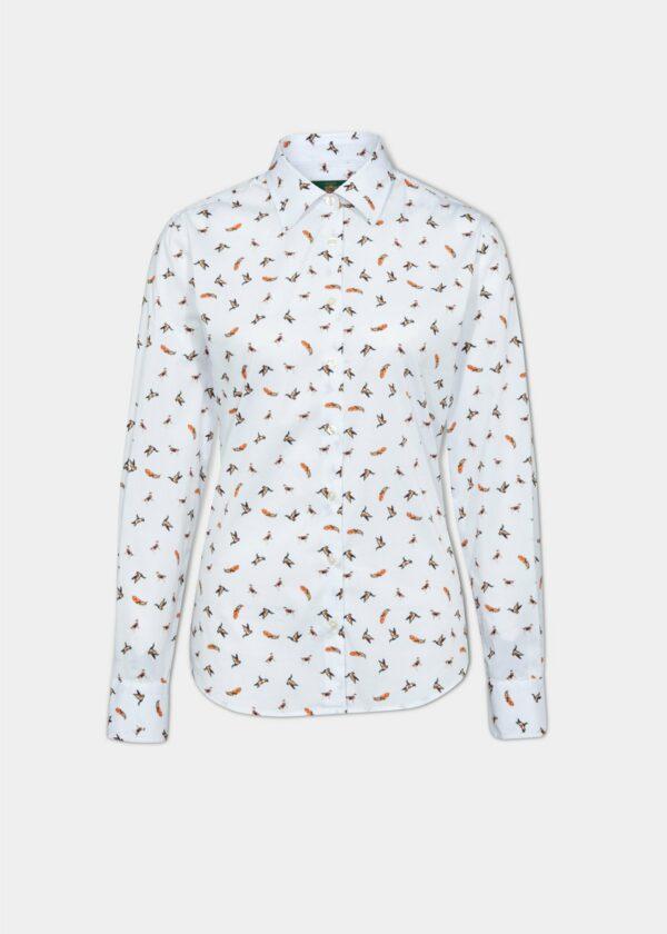 Alan Paine Ladies Lawen Printed Shirt White Print